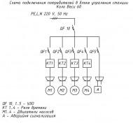 Схема подключения электропитания к станции Коло Веси 60