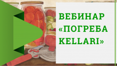 "Вебинар ""Погреба Kellari"" 29 мая 2019г"