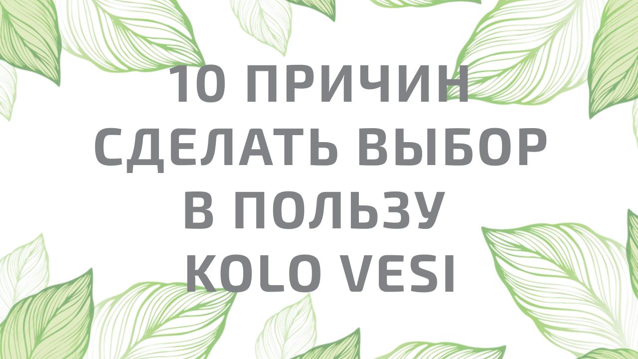 Вебинар 10 причин сделать выбор в пользу Kolo Vesi